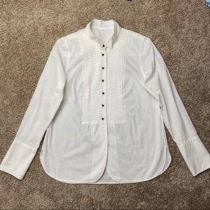J.Crew Tuxedo Tunic Button-Down Dress Shirt M